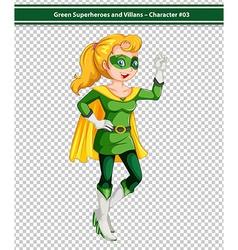 Green Superhero vector