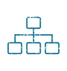 Grunge scheme icon vector