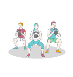 gym training workout and weightlifting exercise vector image