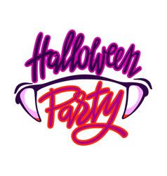 Halloween party logo vector