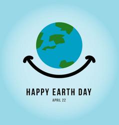 Happy earth day template design vector
