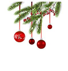holiday decor balls vector image