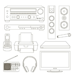 Home technics set vector