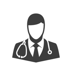 icon doctor vector image