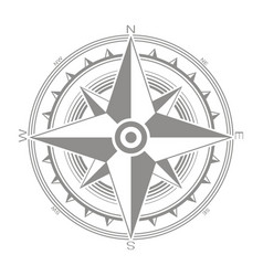 Icon with compass rose vector