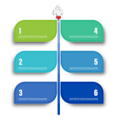 infographic template for diagram graph vector image