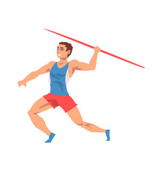 javelin thrower male athlete character in sports vector image