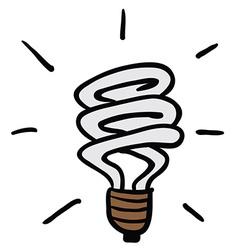 Light saving bulb vector