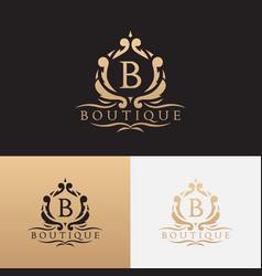 logo template boutique brand vector image