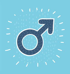 male sex symbol circle icon vector image