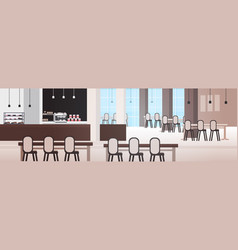 modern cafe interior empty no people restaurant or vector image