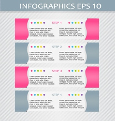 Modern infographic pink and grey design template vector