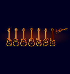 musical instruments neon tubed silhouette vector image