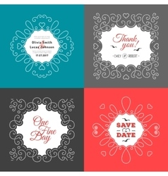 Nautical wedding invitation marine save the vector