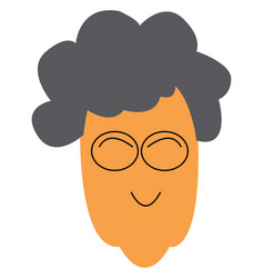 Old woman with eye glasses or color vector