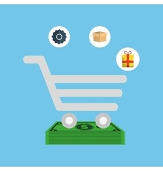Online payment shopping ecommerce vector
