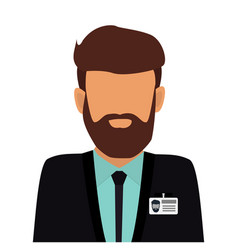 Operator consultant man icon design vector
