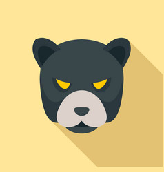 Panther head icon flat style vector