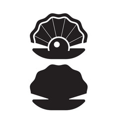 Pearl oyster outline icon vector