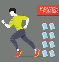 Runner With Hydration Bottles vector