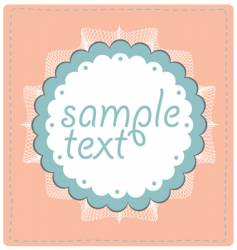 sample text lace design vector image
