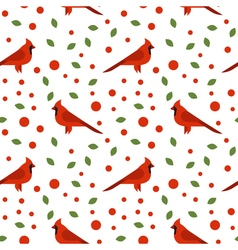 Seamless pattern with beautiful cardinals vector