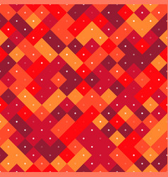 seamless pattern with red pixel squares vector image