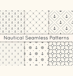 set 6 seamless geometric pattern vector image