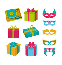 set of birthday elements vector image