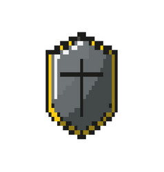 Seurity shield protection element icon vector