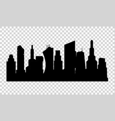 silhouette city in a flat style vector image