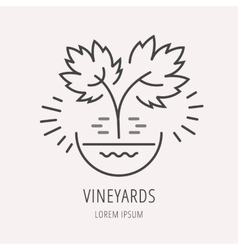 Simple Logo Template Plant Grapes vector