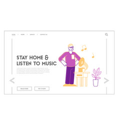 Stay home awareness social media campaign and vector