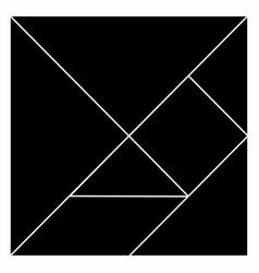 Tangram pieces vector