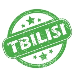 Tbilisi green stamp vector image