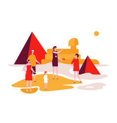 Travel to egypt - colorful flat design style vector