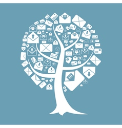 tree letter vector image