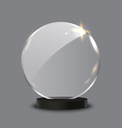 Trophy award shiny glass blank vector