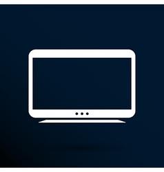 Tv icon flatscreen hd lcd vector