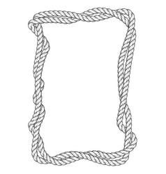 Twisted rope frame - two interlaced ropes square vector