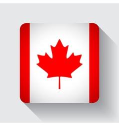 Web button with flag canada vector