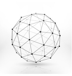 wireframe globe sphere connectivity network tech vector image