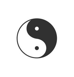 ying yang symbol harmony and balance concept vector image