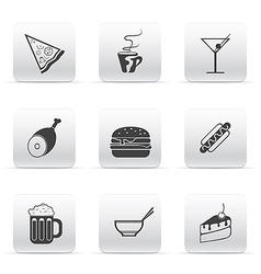 button set icons food and drink vector image