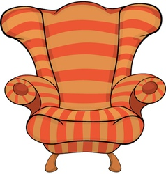Old armchair vector image