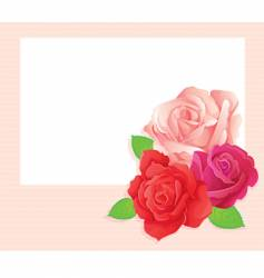 rose card vector image vector image
