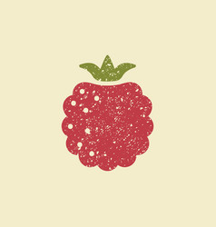 stylized flat icon of a raspberry vector image