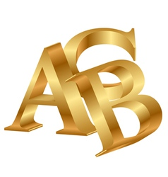 abc gold letters vector image vector image