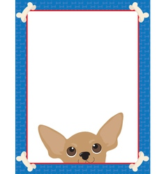 chihuahua frame vector image