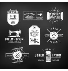 Set of vintage tailor labels emblems and design vector image vector image